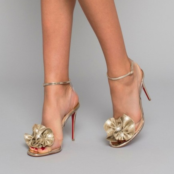 0f5a28b924 Christian Louboutin Shoes - Christian Louboutin Fossiliza Glitter Pvc  Sandals